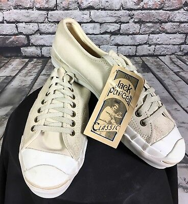 VTG Converse Jack Purcell Classic Shoes Size 8 Made In USA Suede