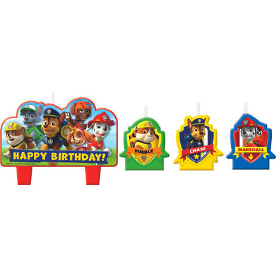 Paw Patrol Candles Pack of 4