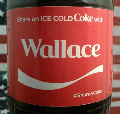 Share A Coke With Wallace 2017 Limited Edition Coca Cola Bottle