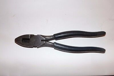 """vintage linesman pliers / cutters 9""""1/2 inches"""
