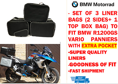 Pannier Liner Bags & Top Box Bag For Bmw Vario R1200 Gs With Outer Pocket