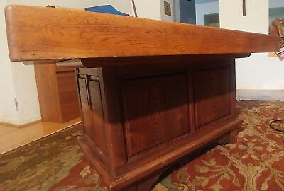 Antique Vintage Japanese Hibachi Coffee Table Wood Copper Lined