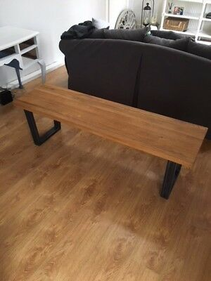 john lewis 2 x calia 3-seater dining bench, oak - £125.00 | picclick uk 3 Seater Dining Bench
