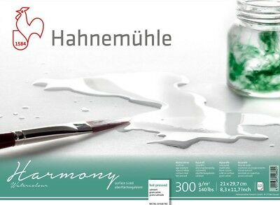 Hahnemuhle Harmony Watercolour Paper Block (HP / NOT / ROUGH) - A4 or A3