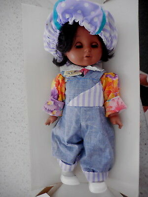 ZAPF CREATIONS COLOURED NELLI STANDING DOLL SLEEPING EYES HAIR BOXED (last time)