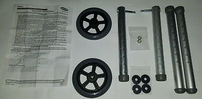 """INVACARE WALKER 114806 Wheel 5"""" + Tube Support +2 Extensions Kit Free Shipping"""
