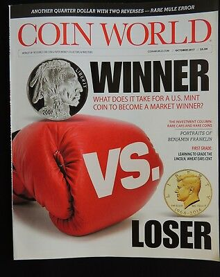 Coin World Magazine 2017 October Vol.58 Issue 2999 World Coins Paper Money