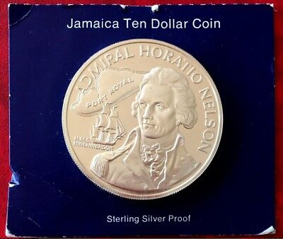 1976 Jamaica Proof Silver Coin Ten Dollars Uncirculated