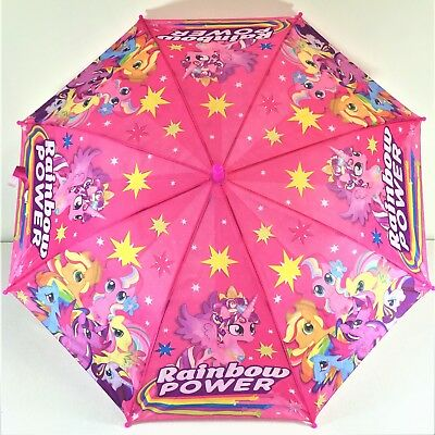 Umbrella Kids Girls Water Proof Pink My Little Pony Cue Au Stock