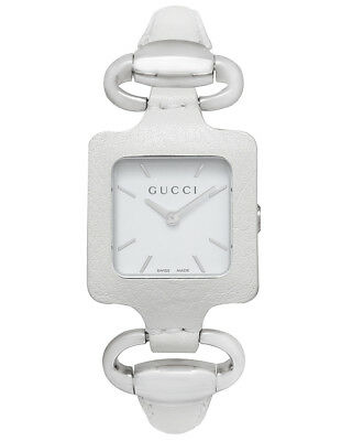 acdd092c6d8 GUCCI 1921 LADIES Watch YA130403 Brown Leather Bangle New Fast ...