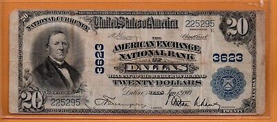 ***   1902  $20.00 National From Dallas Texas    ****