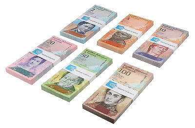 Venezuela 2-100 Bolivares 6 Pcs. Set X 100 Pieces, 2007-14, P-88-93, Bundle,Pack