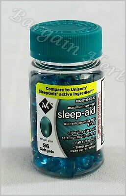 Member's Mark Sleep Aid Maximum Strength Diphenhydramine HCI New Free Shipping