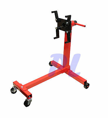 1000Lb Engine Stand Heavy Duty Mobile Engine Cart 360 Degree Rotating Head