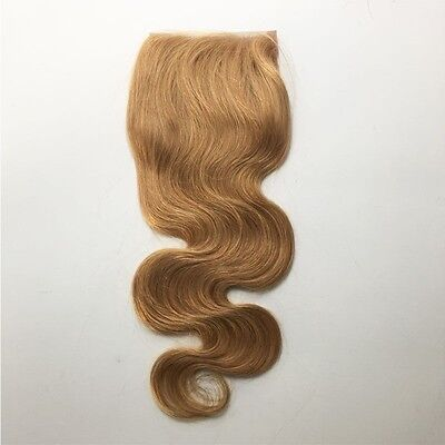 4x4 Lace Closure With Baby Hair Strawberry Blond Closure Body Wave Virgin Hair