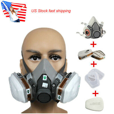 US 7pcs set suit Respirator Painting Spray Gas Mask For 6200 501 5N11 6001 7502