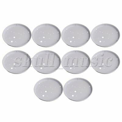 10pcs 19cm ID White Iron Ceiling Light Fitting Sink Mount Plate Chassis