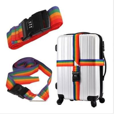 4m Cross Luggage Strap Belt With Secure Lock For Travelling Suitcase Baggage