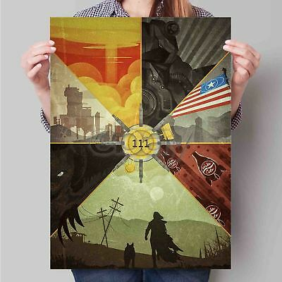 Vintage Style Civil Defense Poster 1960 Radioactive Fallout 20x24