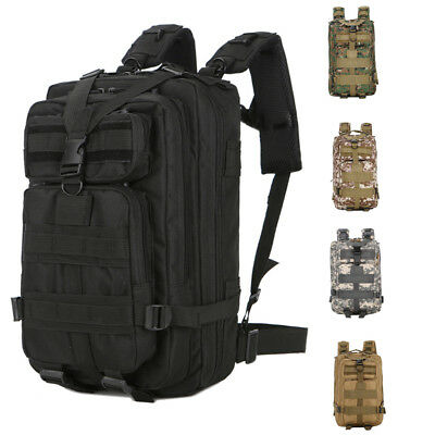 Outdoor Military Rucksack Tactical Backpack 30L 3P Unisex Assault Bag  5 Colors