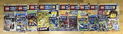 Lego Nexo Knights Magazine Comic Issue #1 - 9 Limited Edition Cover Toy New