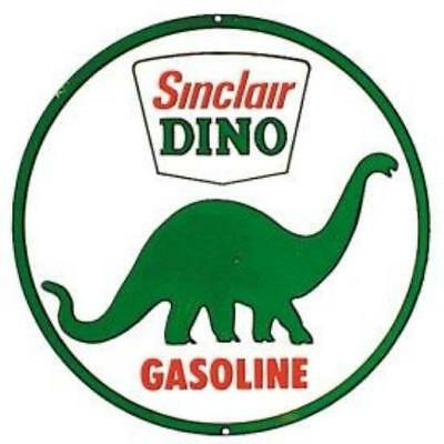 Sinclair Dino Gasoline Round Retro Vintage Tin Sign Signs 4 Fun US SELLER New
