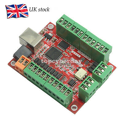 CNC USB Card MACH3 100Khz Breakout Board 4 Axis Driver ARM Motion Controller UK