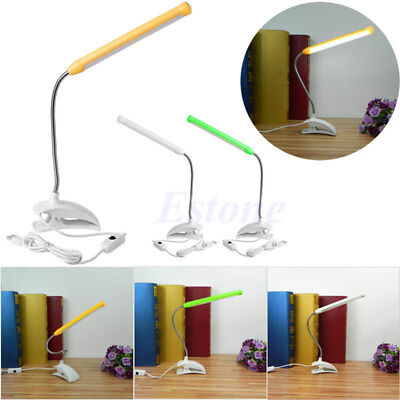 USB Clip-on 13 LED Light Clamp Bed Table Study Desk Reading Lamp Adjustable New