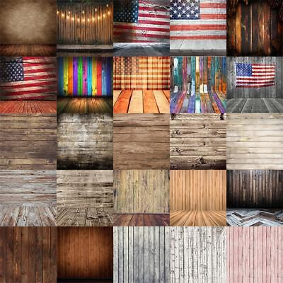 Vintage 8x8 10x10ft Retro Wood Board Backdrop Photography Prop Background Studio