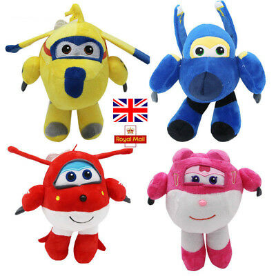 Super Wings Cartoon Character Airplane Plush Puppet Action Figure Toys 20cm