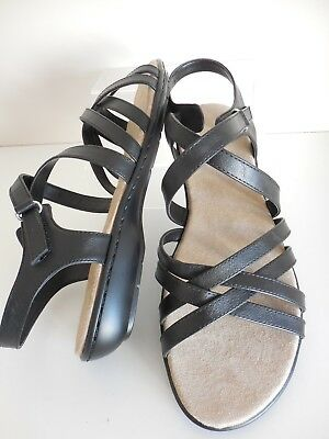 Black Strappy Laced Heeled Sandals Size UK 7 Wide (EEE Fit) BNIB From Evans