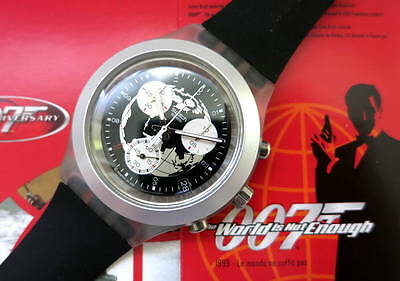 THE WORLD IS NOT ENOUGH - JAMES BOND 007 Swatch - SVCK4003 - Neu und ungetragen