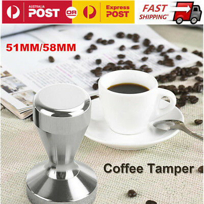51MM / 58MM Coffee Tamper Stainless Steel Polished Tampa Tamp Espresso Barista