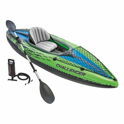 Intex K1 Challenger 1 Homme Personne Gonflable Kayak Canoé Aviron Pompe