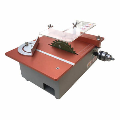 Aluminum Table Saw DIY Mini Cutter Acrylic Wood PCB Cutting Machine with Adapter