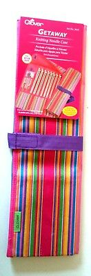 "Clover GETAWAY knitting needle case good for 13-14"" 33-36cm  needles"