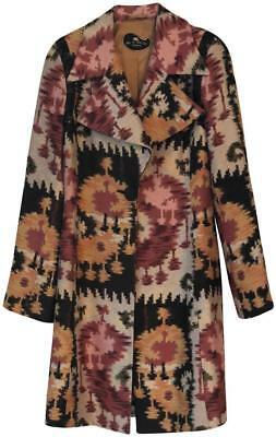 ETRO MULTI-COLOR IKAT COAT JACKET,   SZ 40, Made in Italy