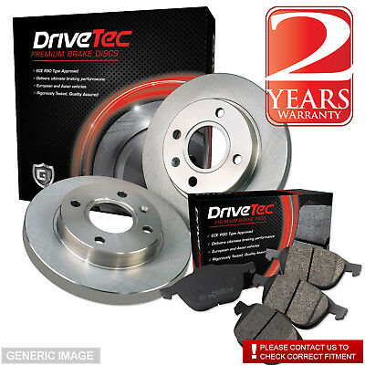 VW Caddy 04-10 2.0 SDi SDI 69 Rear Brake Pads Discs 255mm Solid