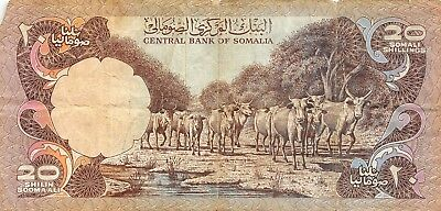 Somalia  20/-  1978   Series  T006  Circulated Banknote Bjk18