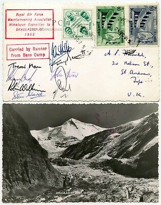 Mountaineering Nepal Dhaulagiri Ppc 8 Signatures Raf Expedition 1965