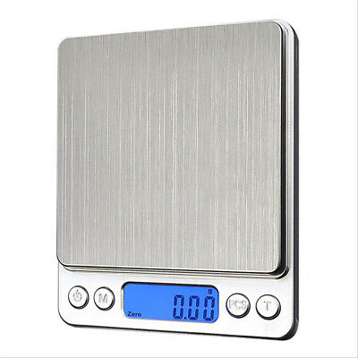 Stylish Silver LCD Pocket Scale for Weighing Gold Herbs Jewellery 0.1 - 3000g