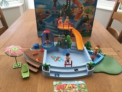 Playmobil Swimming Pool With Water Slide 4858 (Boxed U0026 Full Working Order!)