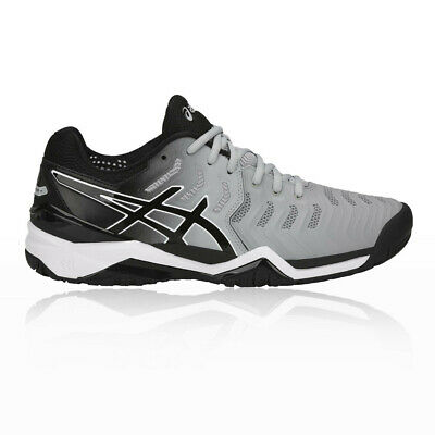 Asics Mens Gel-Resolution 7 Tennis Shoes Grey Sports Breathable Lightweight