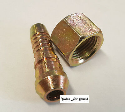 Hydraulic Straight Barb Hose Tail Pipe Connector 1/2 BSP x 12mm