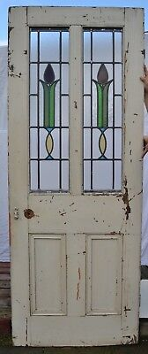 British internal leaded light stained glass door. R719. WORLDWIDE DELIVERY!