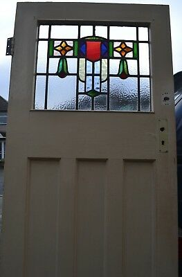 British internal external leaded light stained glass door. R717. DELIVERY!!!