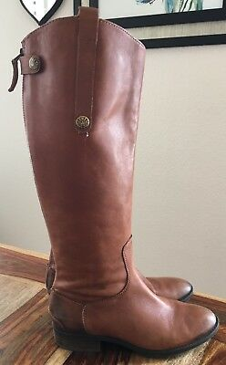 04aa7da24d74e8 Womens Sam Edelman Penny Whiskey Brown Tan Leather Knee High Riding Boots  Size 7