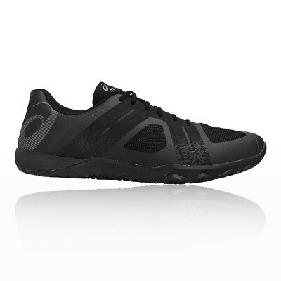 Asics Mens Conviction X 2 Training Gym Fitness Shoes Black Breathable Trainers