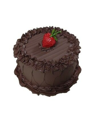 CHOCOLATE FROSTED CAKE Replica Food Prop by Just Dough It