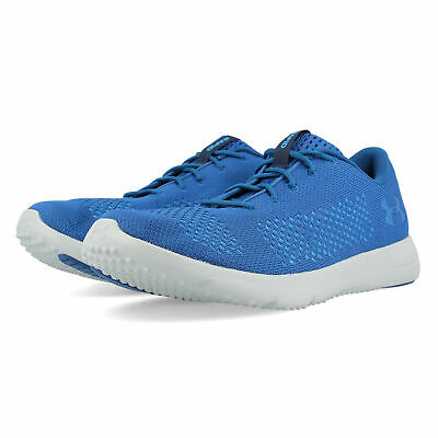 Under Armour Mens Rapid Running Shoes Trainers Sneakers Blue Sports Breathable